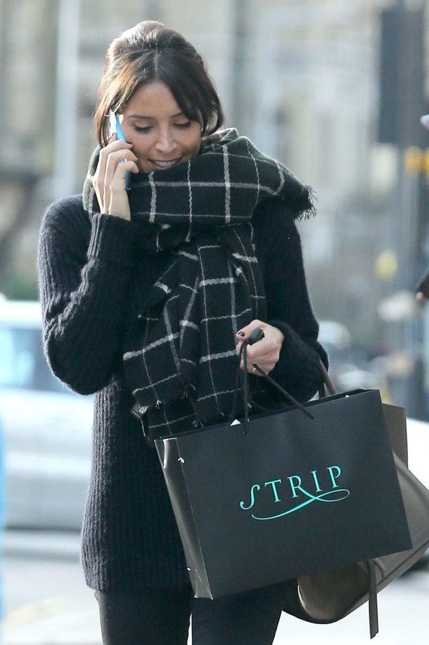 Christine Bleakley shopping around in London