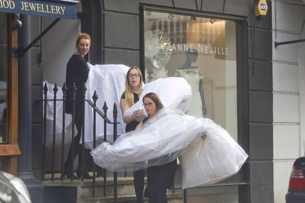 Christine Bleakley wedding dress by Suzane Neville